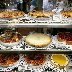 The pies and tarts at Le Delice are gorgeous.